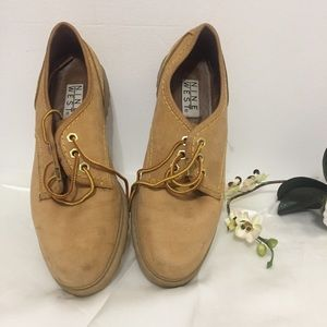 Nine West Brown Leather Shoes